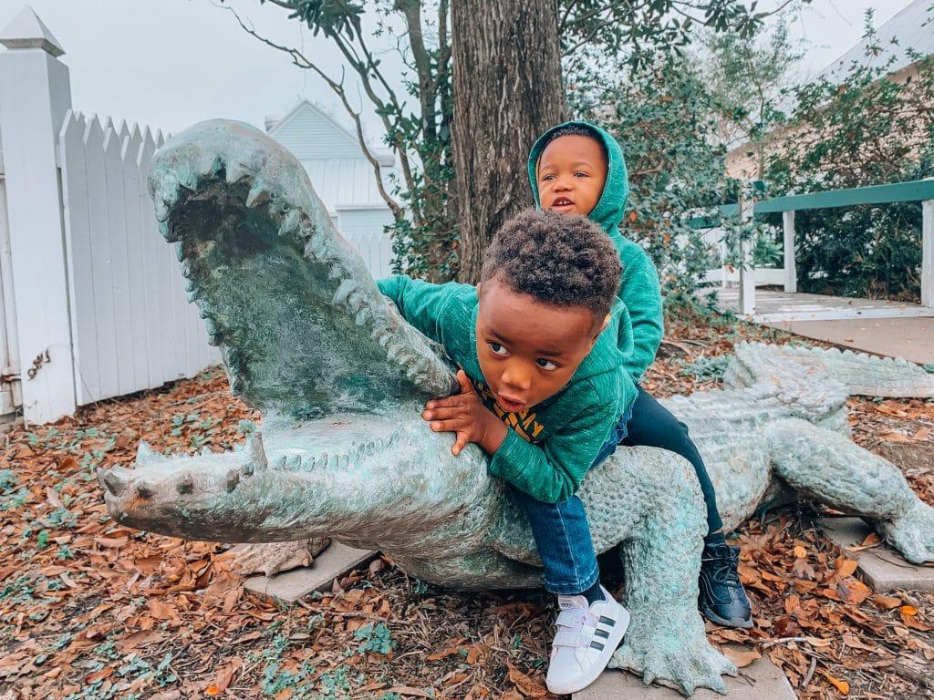 Kids on Alligator